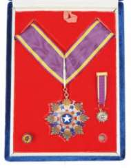 China: order of the Brill antenen star, 5. Class / Commander 2. Class, in a case