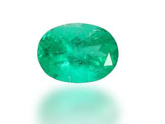 Emerald: a precious and very beautiful natural emerald of approx. 2,33 ct