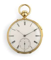 Pocket watch with quarter repeater
