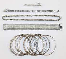 50 pieces silver jewelry