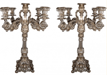 A pair of candelabra.H=63 cm