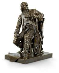 A RARE BRONZE MODEL OF PETER THE GREAT