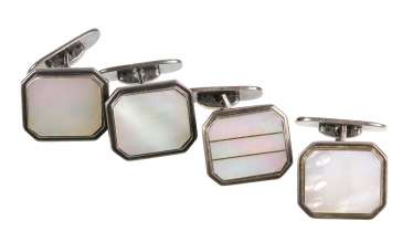 4 Mother-Of-Pearl Cufflinks