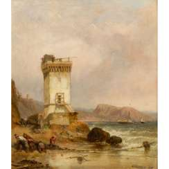 "STANFIELD, WILLIAM CLARKSON (1793-1867), ""British coast with Ford and defense tower"","