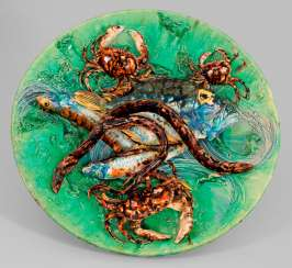 Gorgeous wall plate by Alfred Renoleau