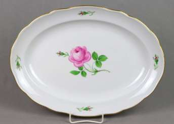 Meissen Serving Plate * Red Rose *