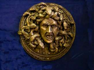 The head of Medusa on the shield