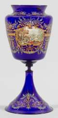 Large trophy vase with enamel and gold painting