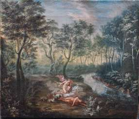 Flemish or German School 18th Century, Diana and Endymion