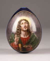 EASTER EGG WITH CHRIST AND THE EUCHARIST Russia