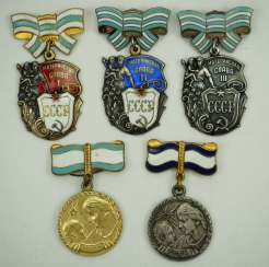 Soviet Union: Awards from a Highly Decorated Mother. 1st / 3rd) Order of Mother Glory