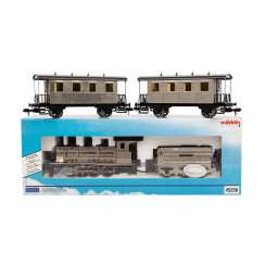 MÄRKLIN MAXI steam locomotive with a tender with two wagons, track 1,