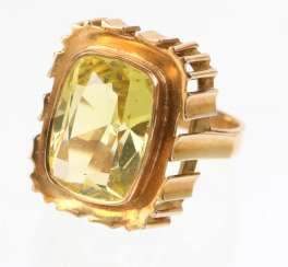 Goldtopas Ring - Gelbgold 585