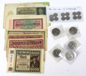 Banknotes and small coins 1874/1983
