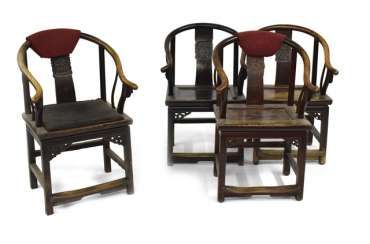Four Horseshoe Chairs, China,