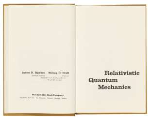 Hawking's copies (one signed with initials) of two texts on Quantum Field Theory,