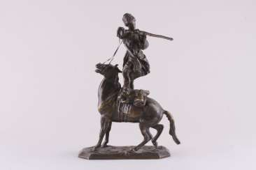 Sculpture the art of riding of the rider of the Circassian