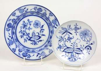 2 *onion pattern* parts of Meissen, among other things,
