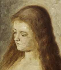 Young woman in profile (Mary Magdalene?).