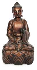 Lacquer gilt wood figure of Buddha