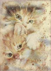 Kittens. 2020. Handmade. The Author - Natalia Pisareva
