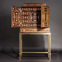 Large baroque cabinet with fine marquetry decoration, probably Antwerp, 17th century