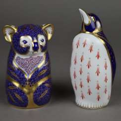 "Two animal sculptures / paperweights ""Koala"" and ""Penguin"""