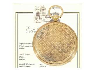 Pocket watch: very early Goldlepine of the company, Patek Philippe, no. 12670, Geneva, 1856, with the master excerpt from the book