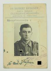 Air raid protection: ID cards for an air raid doctor for the municipality of Gräfelfing.