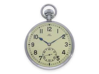 Pocket watch: presumably unused observation watch, Stowa KM, made for the Navy, No. 668 with luminous dial