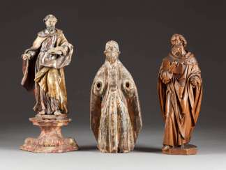 THREE FIGURES OF SAINTS
