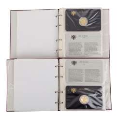 UNICEF year of the child 1979/GOLD - 2 albums with approx. 145 g of fine,