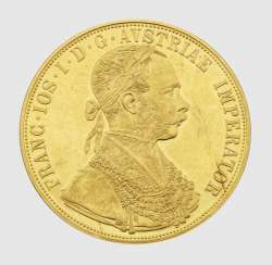 Austria-Hungary gold coin from 1915