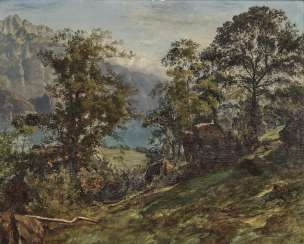 Schiess, Traugott, attributed to. Wooded Mountain Landscape