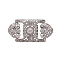 Art Deco brooch with diamonds, together approx 2.2 ct,