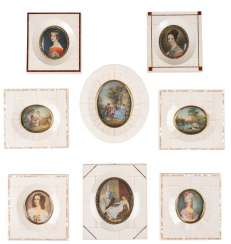 GROUP OF EIGHT MINIATURES