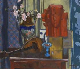IGNATIEV: still life with blue Vase.