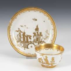Coupling with chinoiserie painting, MEISSEN