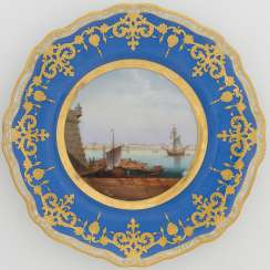 A Porcelain Dessert Plate from the Dowry Service of Grand Duchess Alexandra Nikolaevna