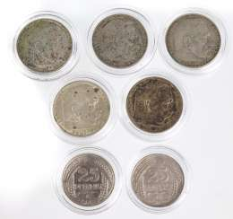 7 Silver Coins, German Empire 1909/3