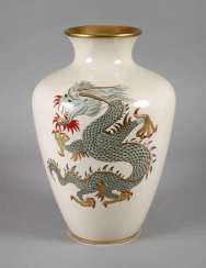 Rehau floor vase with dragon motif