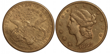 US 1882 $ 20 LIBERTY HEAD