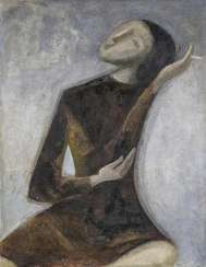 Untitled (Seated young woman)