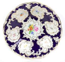 Meissen Cobalt Ceremonial Bowl *Flower Bouquet*