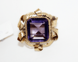 Ring with amethyst gold 56 sample