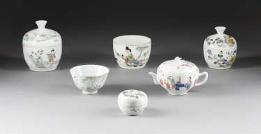 SIX-PIECE COLLECTION OF PORCELAIN
