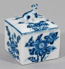 Small box with blue painting