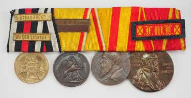 Baden: medal buckle of a veteran of the Franco-German War with 5 awards.