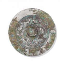 Bronze mirror with six lions