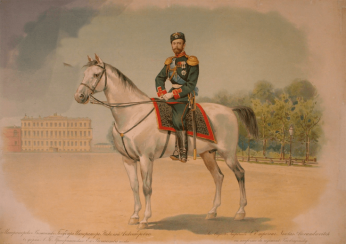Nicholas II in the form of the Preobrazhensky regiment